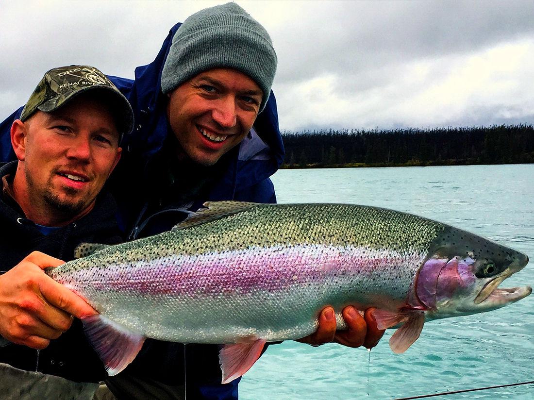 Rainbow trout alaska fishology kenai river salmon for Kenai river salmon fishing